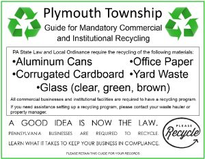 Icon of Plymouth Township Mandatory Commercial and Institutional Recycling Guide
