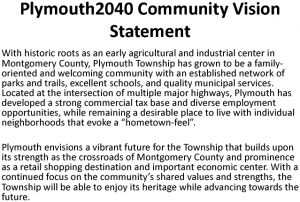 Icon of Plymouth2040 Community Vision Statement With Photos