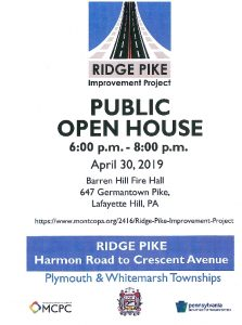 Icon of Ridge Pike Improvement Project Open House