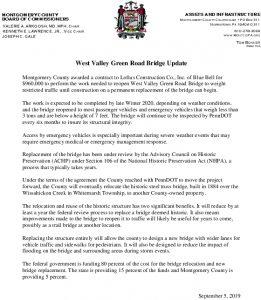 Icon of West Valley Green Road Bridge Update 09-05-2019