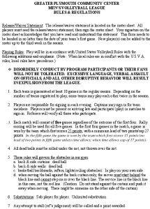 Icon of Mens Volleyball Rules-regs