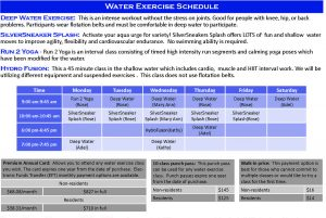Icon of Water Exercise Classes WI20