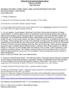 Icon of 1. Environmental Advisory Board - February 2020 Minutes