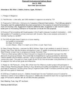 Icon of 3. Environmental Advisory Board - July 2020 Minutes