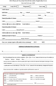 Icon of Camp Registration Form 2021