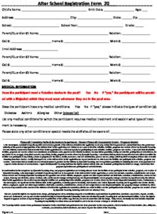 Icon of After School Rendezvous Registration Form 2021
