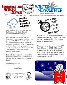 Icon of Montgomery County-Norristown Library Winter 2017 Newsletter