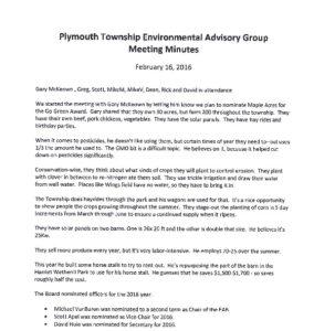 Icon of 2. Environmental Advisory Board - February 2016 Minutes