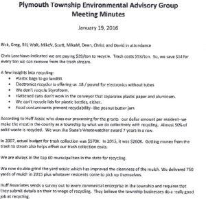Icon of 1. Environmental Advisory Board - January 2016 Minutes