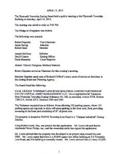 Icon of 4. Zoning Hearing Board - April 2013 Minutes