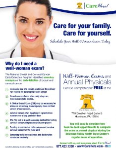 Icon of DVHT Well-Woman Exam Flyer