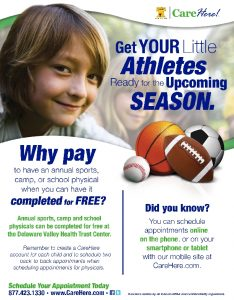 Icon of DVHT Sports And School Physicals Flyer