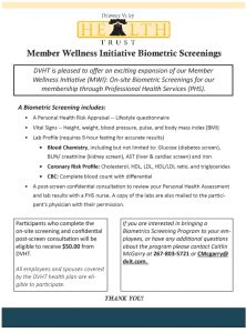Icon of Member Wellness Initiative Biometric Screenings