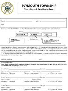 Icon of Direct Deposit Form